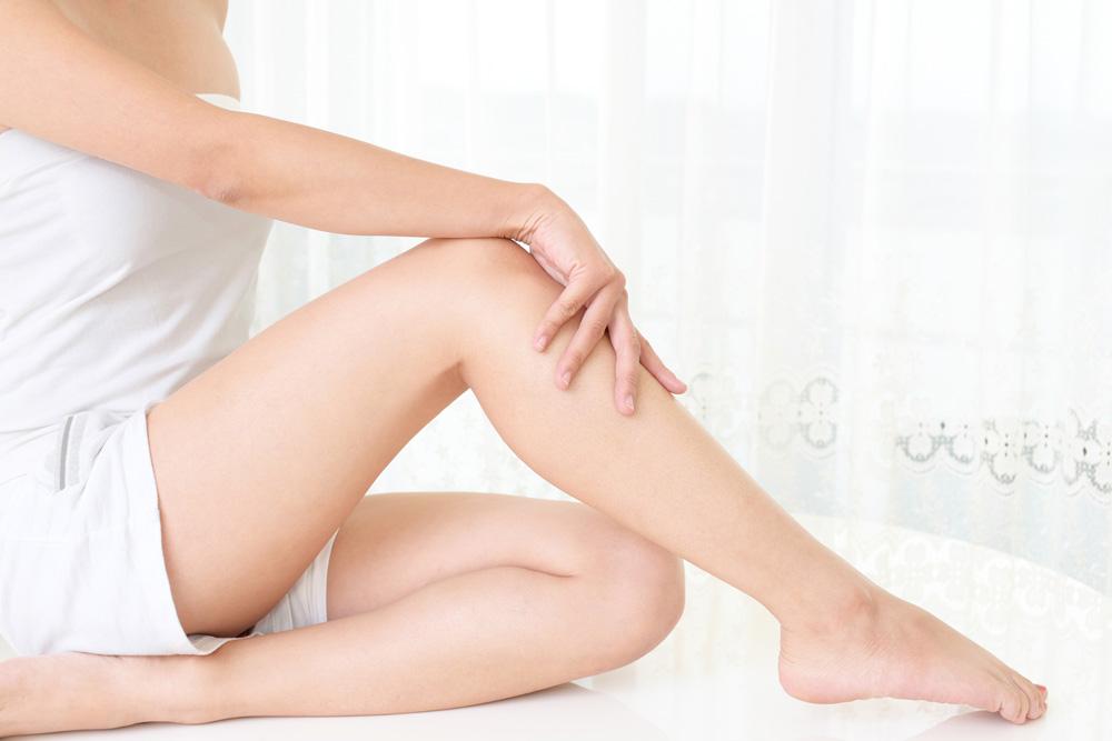 脱毛後の脚